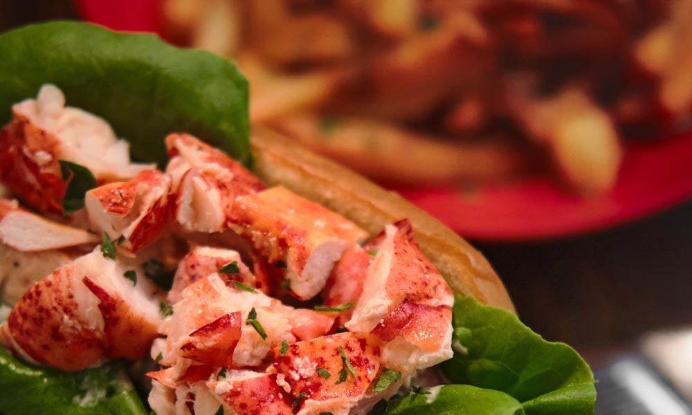 Lobster Roll at Le Polisson Restaurant in Old Montreal